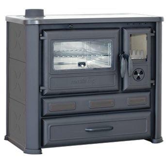 Wood-fired cooker MASTER, black, left side