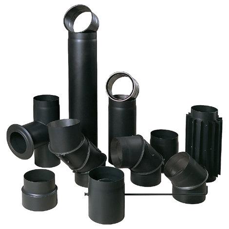 Biezsienu melnās pieslēguma caurules 2mm