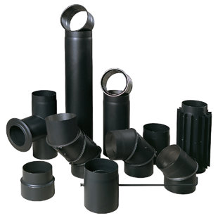 Free standing black connection tubes 2mm